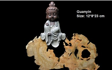 Q-Version Sakyamuni Guanyin Ksitigarbha Buddha Original Porcelain Ornament Handicraft