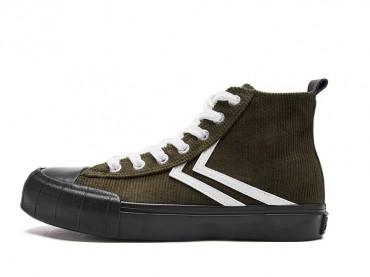Feiyue Shoes 2019 New Fashion High Top Casual Shoes Retro Fashion Corduroy Couple Sneakers