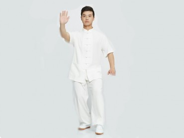 Tai Chi Clothing Short-sleeve Suit for Men Summer Linen