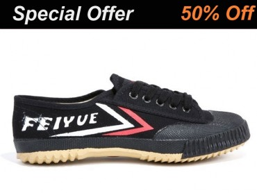 Tai Chi Feiyue Shoes Black