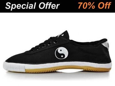 Warrior Footwear Kung Fu Shoes Black Tai Chi Pattern