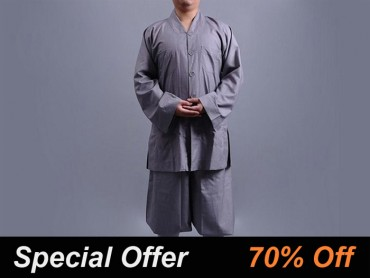 Shaolin Kung Fu Clothing Cotton Grey