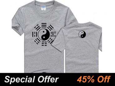 Kung Fu Tai Chi T-shirt Eight Trigrams Grey