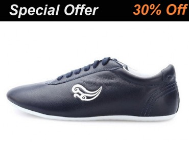 Genuine Leather Tai Chi Shoes for Martial Art Black