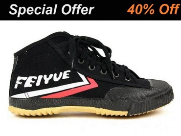 Feiyue High Top Kung Fu Shoes Black