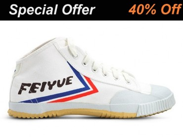 Feiyue High Top Kung Fu Shoes White