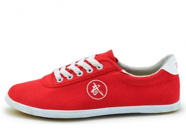 Double Star Canvas Tai Chi Shoes Rosy
