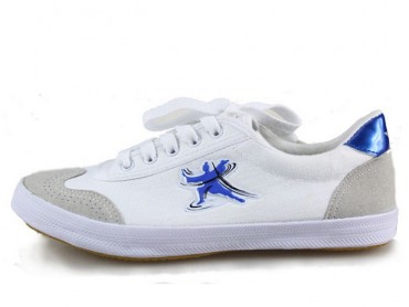 Double Star Canvas Tai Chi Shoes Blue Tai Chi Quan Pattern