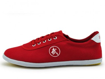 Double Star Canvas Tai Chi Shoes Red