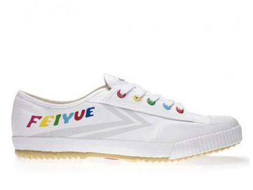 Feiyue Lo Canvas Sneakers -  White/Grey Shoes