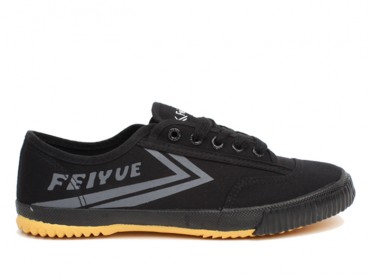 Feiyue Plain Canvas Sneakers - Black Shoes