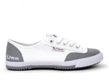 Feiyue Lo Plain II Sneaker - White/Grey Shoes