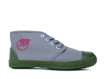 Feiyue Shoes Vintage Chinese Liberation High Top Grey