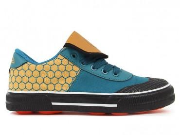 Feiyue Kids Football Shoes Yellow Blue