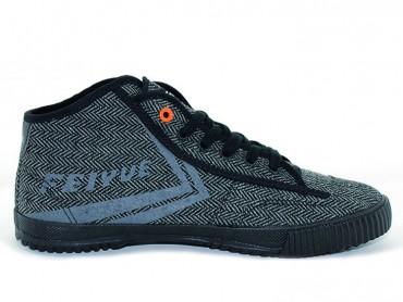 Feiyue Plain High Top Lovers Sneaker - Light Black Shoes