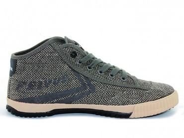 Feiyue Plain High Top Lovers Sneaker - Light Brown Shoes