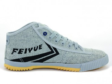 Feiyue Plain High Top Lovers Sneaker - Light Grey Shoes
