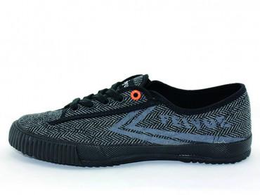 Feiyue Plain Lovers Sneaker - Light Black Shoes