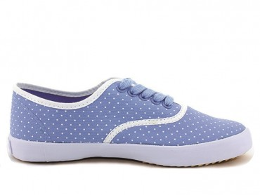 Feiyue Plain Polka Dot Sneaker - Blue shoes