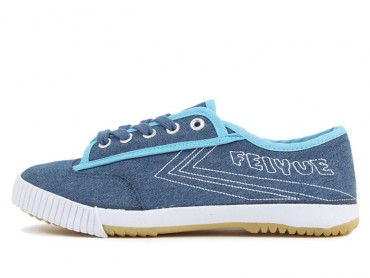 Feiyue Shoes 2015 New Style Embroidery Blue Jeans Sneaker