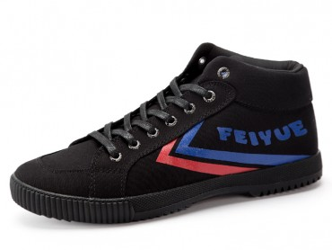 Feiyue Shoes 2016 Updated Black Canvas Shoes Causal Style Blue Red Strips