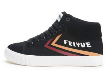 Feiyue Shoes 2017 Autumn New Classic Knight Retro High Top Sports Canvas Shoes Black