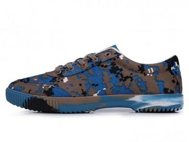 Feiyue Shoes 2017 New Camouflage Mosaic Style Blue