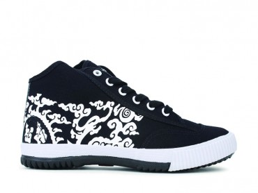 Feiyue Shoes Year of Dragon Cloud High Top Black and White