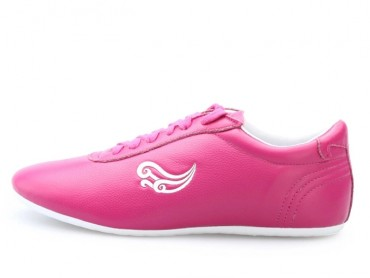 Genuine Leather Tai Chi Shoes for Martial Art Pink