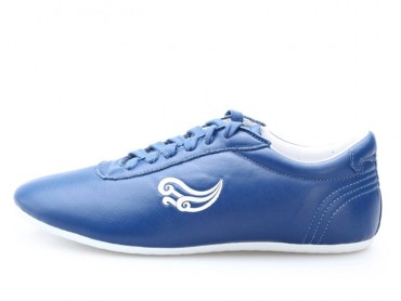 Genuine Leather Kung Fu Shoes Sky Blue