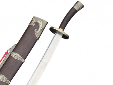 Hand-made Chinese Standard Tai Chi Wushu Broad Sword Dao with Rosewood Scabbard