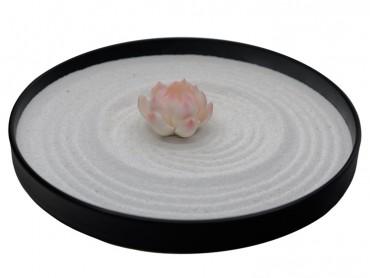 ICNBUYS Mini Zen Garden Pink Lotus Set