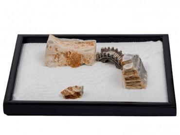 ICNBUYS Multi-layered Stone and Bridge Set with Free Rakes and Pushing Sand Pen