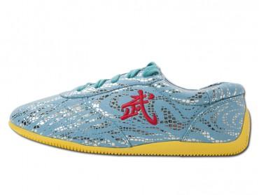 ICNBUYS Tendon Bottom Microfiber Martial Arts Kung Fu Tai Chi Shoes Blue