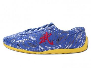 ICNBUYS Tendon Bottom Microfiber Martial Arts Kung Fu Tai Chi Shoes Dark Blue