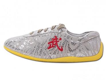ICNBUYS Tendon Bottom Microfiber Martial Arts Kung Fu Tai Chi Shoes Grey