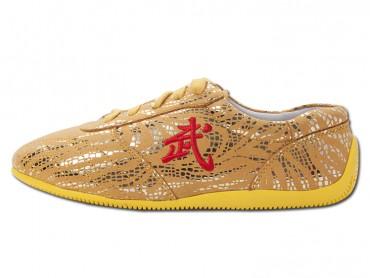 ICNBUYS Tendon Bottom Microfiber Martial Arts Kung Fu Tai Chi Shoes Yellow