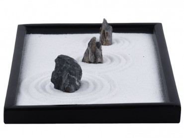 ICNBUYS Zen Garden Blue Dragon Stones Set with Free Rake and Pushing Sand Pen