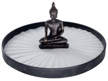 ICNBUYS Zen Garden Buddha Set with Free Rake and Pushing Sand Pen