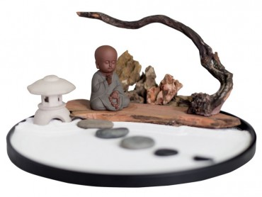 ICNBUYS Zen Garden Meditation Set with Free Rake and Pushing Sand Pen