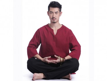 Original Design Summer Zen Meditation Cotton Uniform for Man