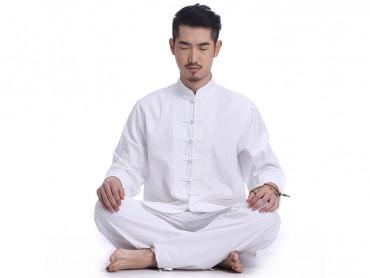 Original Design Summer Zen Meditation Men Cotton Uniform Long Sleeve