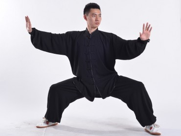 Professional Tai Chi Uniform Summer Man Black
