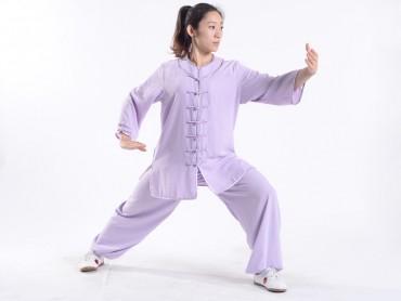 Professional Tai Chi Uniform Summer Woman Half Sleeve Bisque