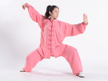 Professional Tai Chi Uniform Summer Woman Rubber Red
