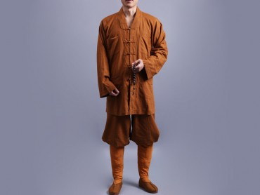 Shaolin Kung Fu Clothing Cotton and Linen Ochre