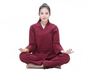 Summer Zen Meditation Women Cotton Uniform Long Sleeve