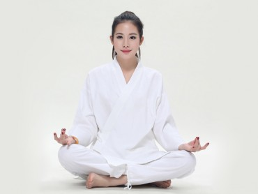 Summer Zen Meditation Women Cotton Uniform Long Sleeve with Pocket