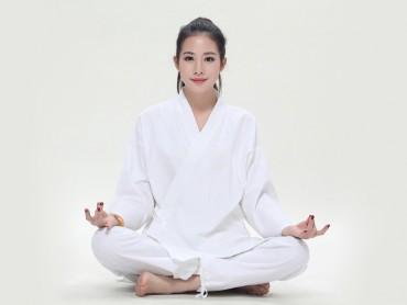 Summer Zen Meditation Women Cotton Uniform Long Sleeve with Pocket