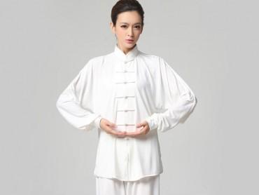 Tai Chi Clothing Set Casual Style White